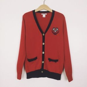 Hartstrings Red And Navy Cardigan ▪️